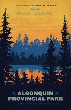 Ligne Claire — robertbchew: National Parks Posters Done during.