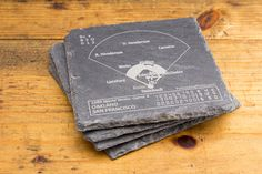 Athletics Greatest Plays Coasters - Slate Coasters (Set of 4) – Points and Pints