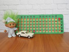 Vintage Bingo Card | Bingo King Master Board Green with Red Windows by…