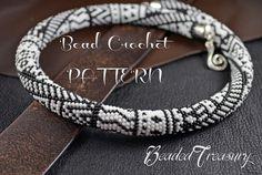 """Tribalis"" - bead crochet pattern / bead crochet necklace / seed beads 11/0 / BededTreasury"
