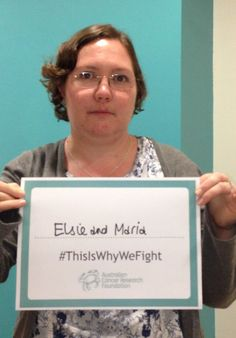 "Jess, from the ACRF, shares why she is fighting: ""This is for Elsie and Maria, and all my loved ones touched by cancer."" http://acrf.com.au/thisiswhywefight/  #ThisIsWhyWeFight #cancer #inspiration #support #hope #helpus #fightcancer"
