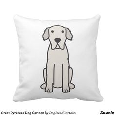 Great Pyrenees Dog Cartoon Follow the link to see this product on Zazzle! @zazzle #dog #dogs #dogstuff #dogpin #pet #pets #animals #animal #fun #buy #shop #shopping #sale #gift #dogowner #dogmom #dogdad #apartment #apartmentgoals #apartmenttherapy #home #decor #homedecor #bedroom #apartmenttherapy #throw #pillows #throwpillows #pillow