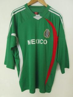 Mexico National Team Mens Football Soccer Green Jersey Shirt Size L Large Authentic Sports Used Condition by ForgottenTreasuresEU on Etsy #mexico #mexicojersey #mexicosoccerjersey