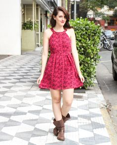 Cute dress - would wear it with sandals, flats or sneakers (Keds/Converse), though.