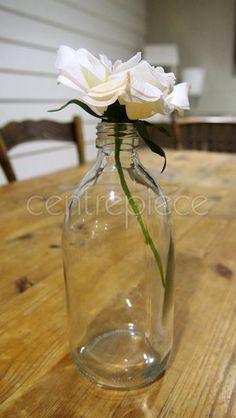 Bottle Clear Medium Glass Vase, Centerpieces, Bottle, Wedding, Medium, Home Decor, Valentines Day Weddings, Decoration Home, Room Decor
