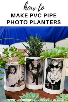 How to recycle/repurpose PVC Pipe into photo planters.