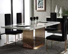 Ideas and Inspiration for Modern Dining Room Furniture Design Luxury Dining Tables, Luxury Dining Room, Modern Dining Table, Dining Table In Kitchen, Stainless Steel Dining Table, Antique Dining Tables, Outdoor Dining, Dining Room Sets, Dining Room Furniture