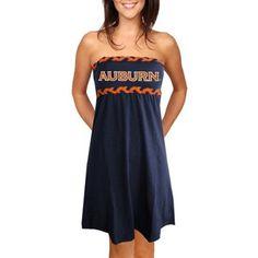 Auburn Tigers Ladies Navy Blue Braided Dream Tube Dress