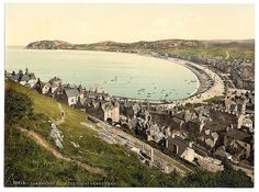Llandudno bay from the Great Orme. Taken between 1890 and 1900.