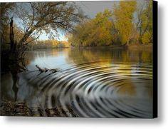 #Ripple #River Canvas Print / Canvas Art By Bonfire #Photography