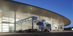 Trucks at the McLaren Technology Centre