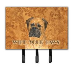 Caroline's Treasures Bullmastiff Wipe Your Paws Leash Holder and Key Holder