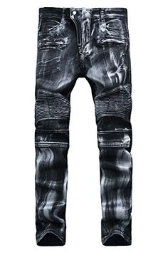 Checkout these TBMPOY Men's Slim Fit Distressed Straight Ripped Denim Jeans made of high-quality, soft, lightweight denim cotton fabric. Ripped Jeans Men, Patched Jeans, Jeans Fit, Black Jeans, Tomboy Fashion, Mens Fashion, Fashion Pants, Rockstar Denim, How To Wear Sneakers
