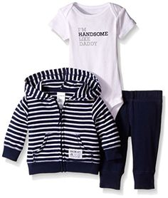 Carters Baby Boys 3 Piece Cardigan Set Baby  Navy Stripe  3M ** You can get additional details at the image link.