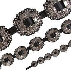 GEM DANDY ACCESSORIES - Gem Dandy Ladies Black Cross Western Concho Belt - NRSworld.com
