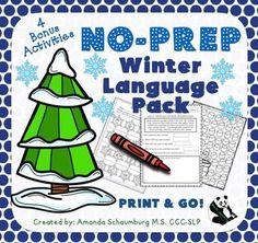 Winter No Prep activities (Panda Speech)