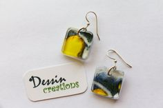 GREY GOOSE Bottle Earrings  Upcycled Recycled by DessinCreations, $28.00