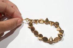 DIY Spikes : DIY cone stud bracelet  : DIY Jewelry