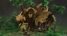 """Home to Radagast the Brown wizard, this house was featured briefly in the film """"The Hobbit: An Unexpected Journey"""". Only the front facade was view-able from the movie, the rest of the creation has been made up based on fan art and whatever I felt worked. With an estimated 20-25,000 bricks and a footprint of a 77cm square, this is by far my largest creation to date, and one of the most complex at that. I have previously built a rendition of the house, but much smaller, only the fron..."""