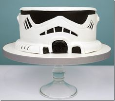 Storm Trooper Cake -- looks like my dads cake for his birthday next year