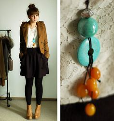 A necklace made by mom :)  (by Maddy C) http://lookbook.nu/look/1696735-A-necklace-made-by-mom