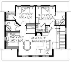 The Babette Two-Car Garage  plan. See details for Plan 113D-7505.