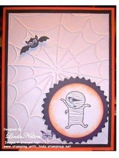 Please let me know if you'd like to purchase this or any of my other cards. Googly Ghouls, Halloween, mummy, bat  Linda Nelson Linda's Creations Cards and Crafts www.lindascreationscardsandcrafts.com 360-326-8820 lnelson74@clear.net