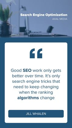 """Good SEO work only gets better over time. It's only search engine tricks that need to keep changing when the ranking algorithms change """"Jill Whalen"""" Only Getting Better, Free Quotes, Search Engine Optimization, Seo, Digital Marketing, Engineering, Wellness, Change, Technology"""