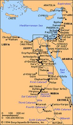 Egypt, ancient [Credit: Encyclopædia Britannica, Inc. Egypt Map, Bible Mapping, Ancient Near East, Religion, Historical Maps, African History, Ancient Civilizations, World History, Cairo