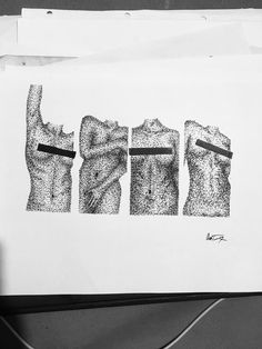 #censored #art #dotwork #erotic #ink Sally, Erotic, Dots, Nude, Ink, Stitches, India Ink