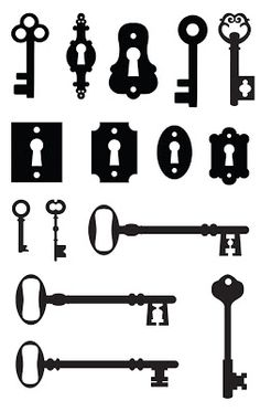 like the design of the key in the upper left, also the small ones in the middle row (the right-hand design)