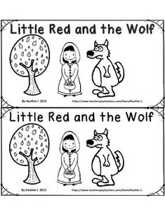 FREE Little Red and the Wolf Emergent Reader Red Riding Hood fairy tale