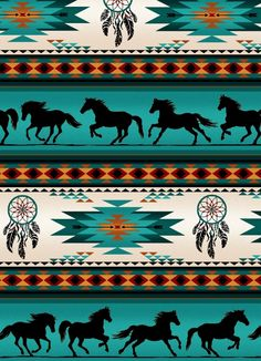 Turquoise, Orange Blanket Stripe, Horses, Tucson, Elizabeth's Studios (By Yard) Southwestern Fabric, Southwest Decor, Southwest Quilts, Southwest Style, Cute Wallpapers, Wallpaper Backgrounds, Iphone Wallpaper, Watch Wallpaper, Horse Wallpaper
