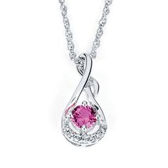 BEST PRICE POINT  Under $500  Pendant in 14k white gold with 0.44 ct. pink sapphire and diamonds; $489; Parlé/Idaho Opal & Gem Corp.
