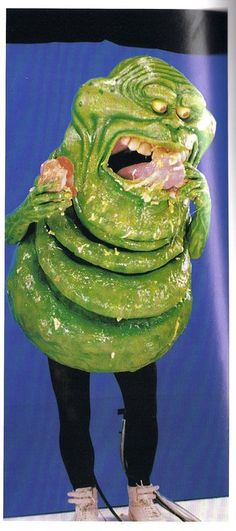 Slimer blue screen filming for Ghostbusters 2