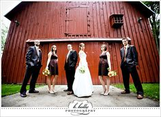 ALWAYS wanted to get married in front of a big red barn!