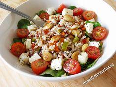 Caprese Salad, Cobb Salad, Vegetarian Recipes, Healthy Recipes, Healthy Food, Mediterranean Recipes, Paella, Risotto, Potato Salad