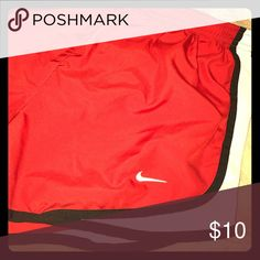 Red Nike pro running shorts Red Nike running shorts. Size small. Nike Shorts