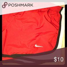 Red Nike pro running shorts Red Nike running shorts. Size small. Nike Shorts