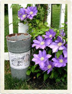 French flower bucket DIY tutorial