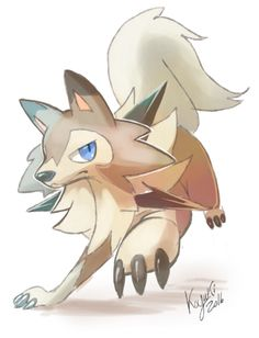 lycanroc by ko-yuki-chan on @DeviantArt