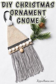 These adorable gnome ornaments are so easy and fast to make you are going to enjoy creating them. Making Christmas ornaments is perfect for crafting with the kids. They will enjoy creating gnome ornaments for gifts, decor, a tree ornament, and just for fun.. #gnomes #christmasornament #kippiathome Gnome Ornaments, Christmas Ornaments To Make, Easy Christmas Crafts, Christmas Gnome, Homemade Christmas, Christmas Ideas, Christmas Decorations, Burlap Christmas, Holiday Decorating