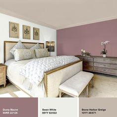 Ppg Diamond 1 Gal Dusty Mauve Eggshell Interior Paint With images ideas from Home Inteior Ideas Mauve Living Room, Mauve Bedroom, Bedroom Paint Colors, Bedroom Decor, French Country Bedrooms, French Country Living Room, Mauve Walls, Interior Paint, Luxury Interior