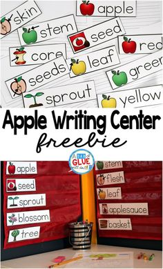Apple Writing Center has everything that you need to include into your literacy rotations when learning about apples.