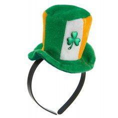 12 x jour de la St.Patrick DRAPEAU IRLANDAIS couleurs plastique Bowler chapeaux de f/ête