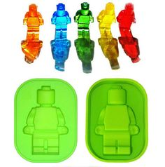 Fun Robot Shape Ice Cube Tray Silicone Molds Candy Chocolate Mould Ice Cream Maker diy Bar Party Drink M-F65