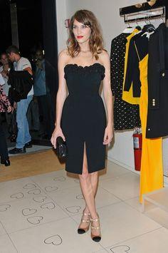 Alexa Chung attends Moschino Fashion's Night Out... - Alexa Chung Inspiration