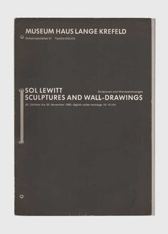Sol Lewitt - Sculptures and Wall-drawings