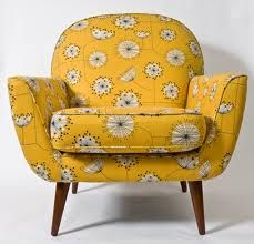 Very cool mid-century chair... think the fabric is by Angie Lewin? @ame brewster