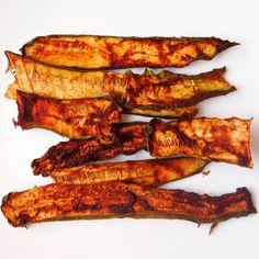 Raw Zucchini Bacon & No Sweetener Added BBQ Sauce- Healthy Helper Dr Sebi Recipes, Bacon Recipes, Raw Food Recipes, Veggie Recipes, Vegetarian Recipes, Cooking Recipes, Veggie Meals, Recipes Dinner, Keto Recipes